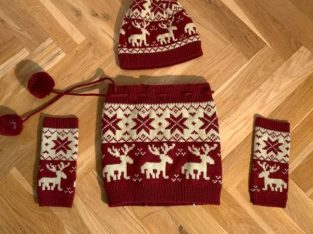 Haube, Schal und Handschuh Komi
